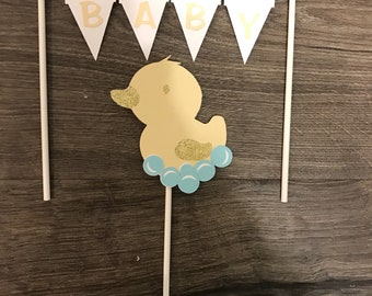 Baby duck cake topper