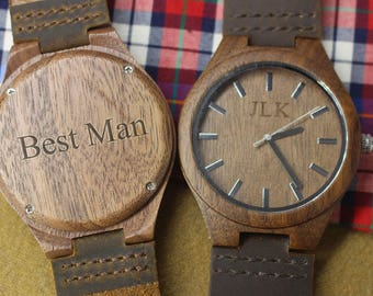 Wood Watch Wooden Watch Groomsmen Gifts Groom Gift Best Man Gift Birthday Gifts for Boyfriend Anniversary Gifts for Men Fathers Day Gift