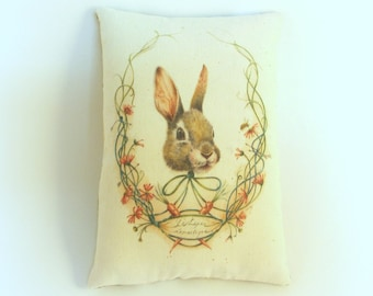 Easter decoration | Bunny pillow tuck | Spring decor | Primitive spring pillow | Easter gift | Easter Basket stuffer | Spring decoration