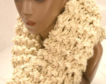 Ultra plush knit infinity scarf, scoodie, snood