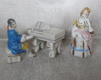 Occupied Japan Piano Group - Set of 3