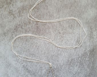 Silver Triangle Long Necklace