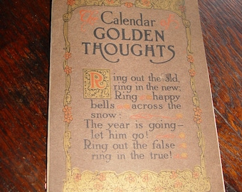 The Calendar of Golden Thoughts 1913 Calendar – 1912 by Barse & Hopkins