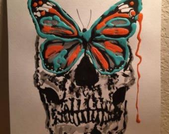 Butterfly Skull Art