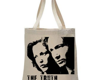 X Files Fox Mulder- Dana Scully Graphic Tote