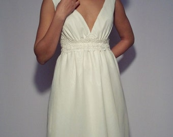 Superior Linen Wedding Dress