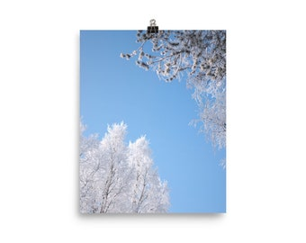Winter sky print