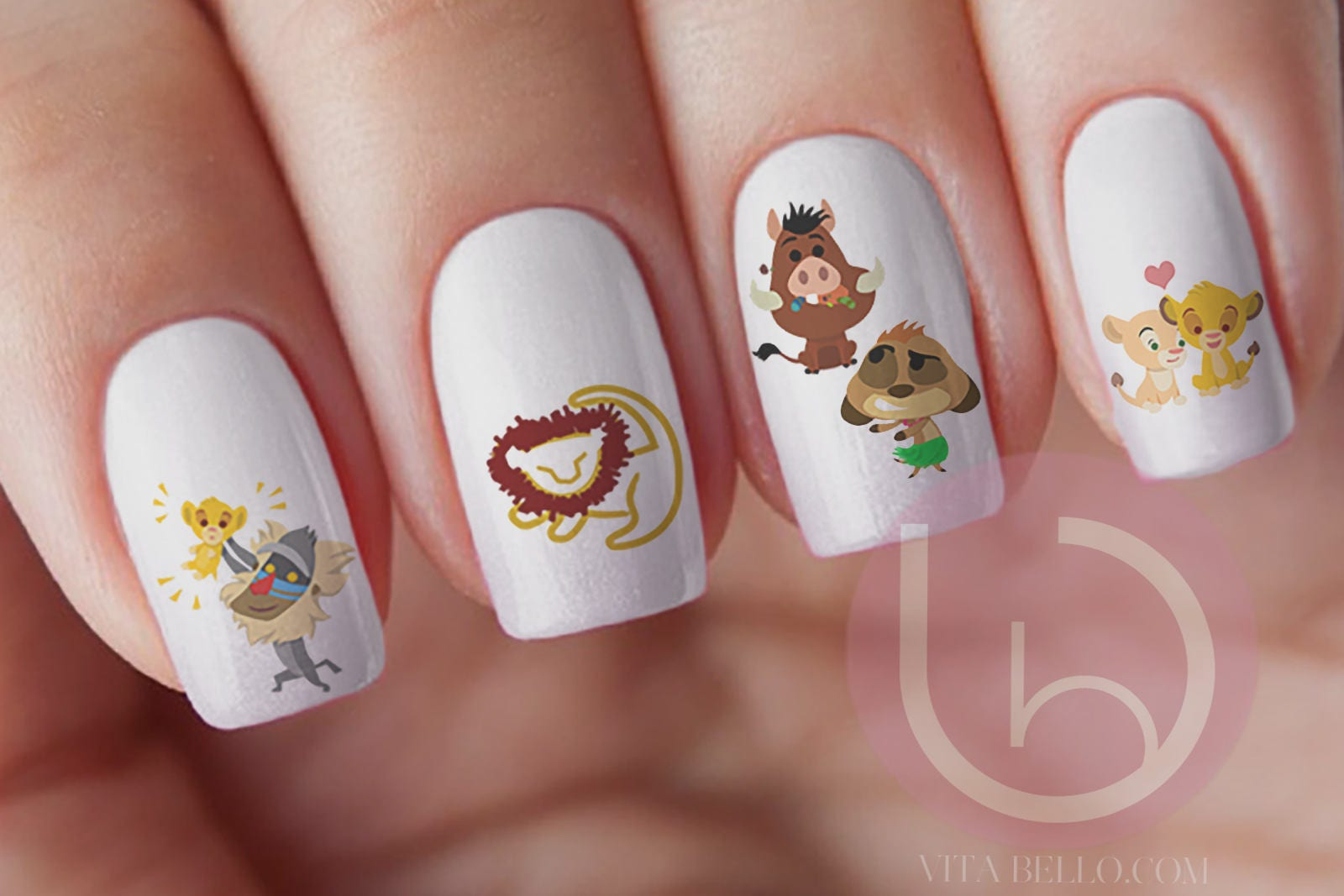 Lion King Nail Decal, Nail Art, Simba Nail Decal, Nila Nail Decal ...