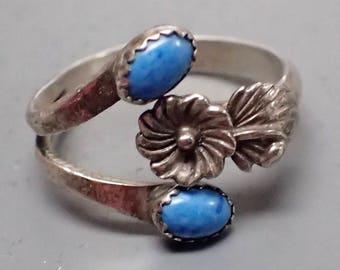Vintage Denim Lapis sterling silver ring
