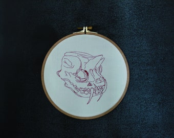Animal skull embroidery Mystic 20x20cm