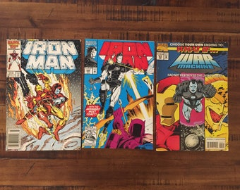 1986-93 Iron Man #216, 286 and What If... #63 Comic Books/Marvel Comics/1st Series/War Machine/Choose One or All Three For Discounted Price!
