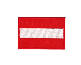 AC44 Austria flag Travel country patches Patch Patch size 7 x 4.8 cm