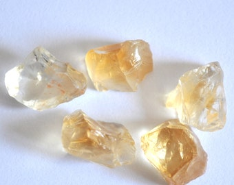 25.4cts Natural Citrine Raw 5 Pieces, Rough Citrine Lot, Rough Orange Quartz Crystal Stone, Natural Gemstone, Citrine Crystal BL129