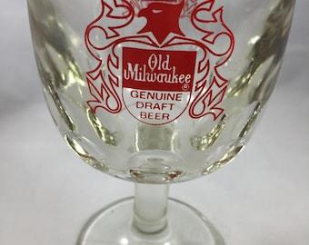 Vintage Old Milwaukee Bird Crest Beer Goblet
