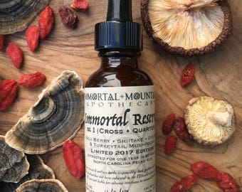 Immortal Reserve No. 1 : Cross-Quarter Tincture - nourishing herbal mushroom & goji extract