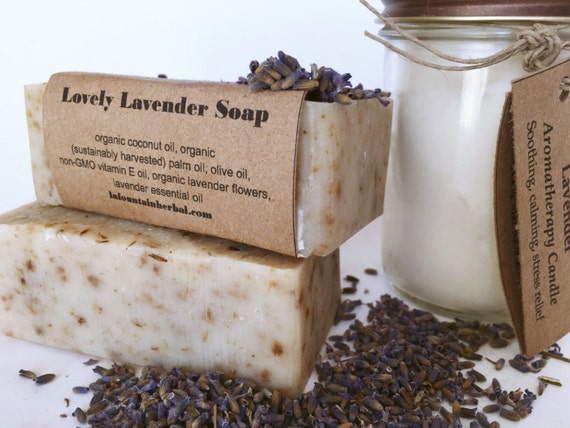 Gift Set - Custom Candle and Soap Gift Set - Organic Gift Sets