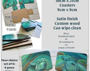 Reina Cottier Art 6 Coasters