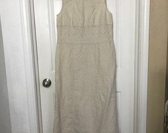 S/M Linen Laura Ashley dress