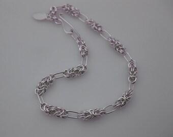 Bracelet Argentium Silver Byzantine and Loops