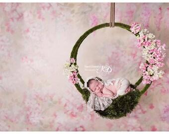 Layering Grass  Photo Prop Made To Order Nest Filler Basket Filler Reversible Textured Layering Blanket Newborn Photo Prop
