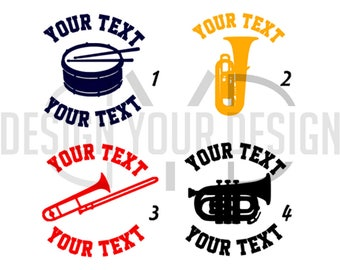 Band Music Instrument Decal