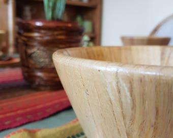 Set Of 7 Wooden Bowls, Wood Salad Bowls, Wood Bowls Set, Vintage Wood