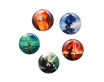 """Percy Jackson Inspired Book Cover 1"""" Button Set"""