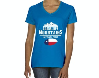 Guadalupe Mountains National Park  Texas Women V-Neck T-Shirt