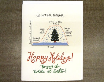 Holiday Curve - Biology Microbiology Science Themed Card