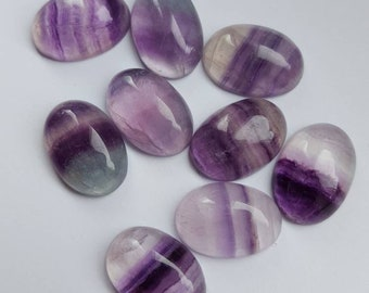 14x10mm Fluorite Rainbow Gemstone Cabochon 3 pieces