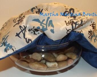Ahhh-Maize-ing Corn Comfort Sak Multi Size Wrap 'Zen', Asian, Blue, Gray, Microwave Corn Bag