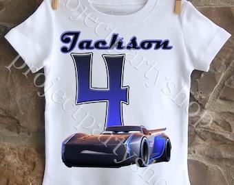 Jackson Storm Birthday Shirt, Cars 3 Birthday Shirt