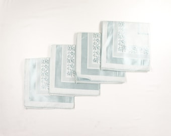 Vintage Ice Blue Napkins - Damask - Cocktail or Luncheon Set - Sky Blue Rayon Cotton Blend Made in Japan - Mint with Tag MWT