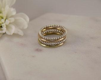 Stacking Rings Brass Stacking Rings Gold Stack Rings Gold Stacking Rings Statement Ring Sterling Silver Stacking Ring