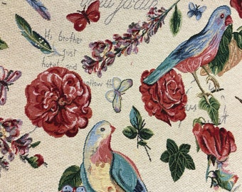 Mexican Fabric Jacquard Mexican Floral Bird Frida Pattern Fabric