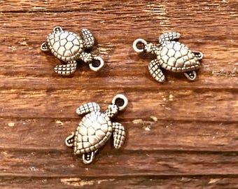 3 Sea Turtle charms