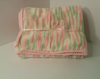 Knit & crochet colors marbled (girl) baby blanket