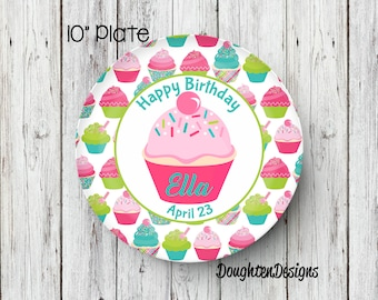 Cupcake Plate Birthday Plate Personalized Melamine Plate Personalized Birthday Plate Girl Plate Personalized Plate Birthday party plate  sc 1 st  Etsy & Melamine plates | Etsy