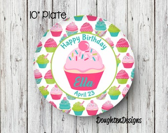 Cupcake Plate Birthday Plate Personalized Melamine Plate Personalized Birthday Plate Girl Plate Personalized Plate Birthday party plate  sc 1 st  Etsy & Personalized melamine plates | Etsy