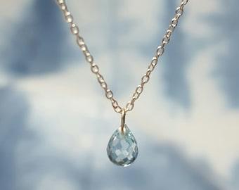 Blue Topaz Necklace Blue Topaz Necklaces Womens Gift for Her December Birthstone Necklace Blue Topaz Gemstone Jewelry Blue Topaz Pendant
