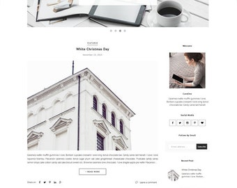 Premade Blogger Template - Responsive Premade Template - Minimalist template - Slider Photography Fashion - Slide Show - Theme Blogspot