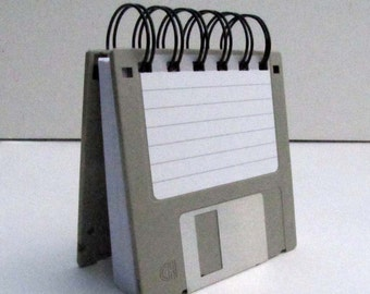 Floppy Disk Notebook JUMBO Gray Computer Disk Recycled Geek Gear Blank Mini 125 sheets