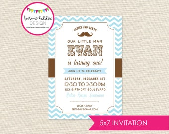 Little Man Birthday Invitation, Little Man Birthday, Little Man Printables, Little Man Birthday Decorations, Lauren Haddox Designs