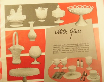 1950s Advertisement - Milk Glass By Imperial - House And Garden Magazine