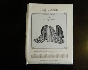 TV263: Truly Victorian Ladies 1887 Imperial Skirt Pattern