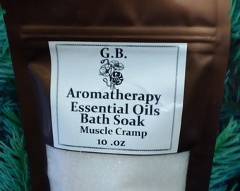 Therapeutic bath salts and essential oils aromatherapy