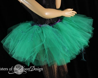 Ariel tulle tutu skirt green mermaid inspired dance costume princess party race fairytale wedding bachelorette - You Choose Size - SOTMD