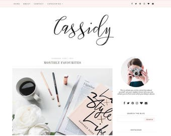 Blogger Template - Premade Blog Templates - Blog Theme - Responsive Blogger Template - Blogger Theme - Blogspot - Blog Design - Feminine