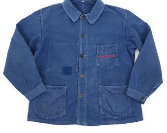 French vintage work jacket/France 1960's/blue/chore jacket/work wear/LABOR/422
