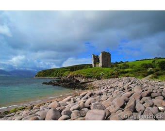 "Fine Art Color Photography of the Dingle Peninsula Landscape in Ireland - ""Minard Castle"""
